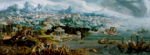 Maerten van Heemskerck (1498-1574) - Panorama with the Abduction of Helen Amidst the Wonders of the Ancient World - Walters 37656.jpg